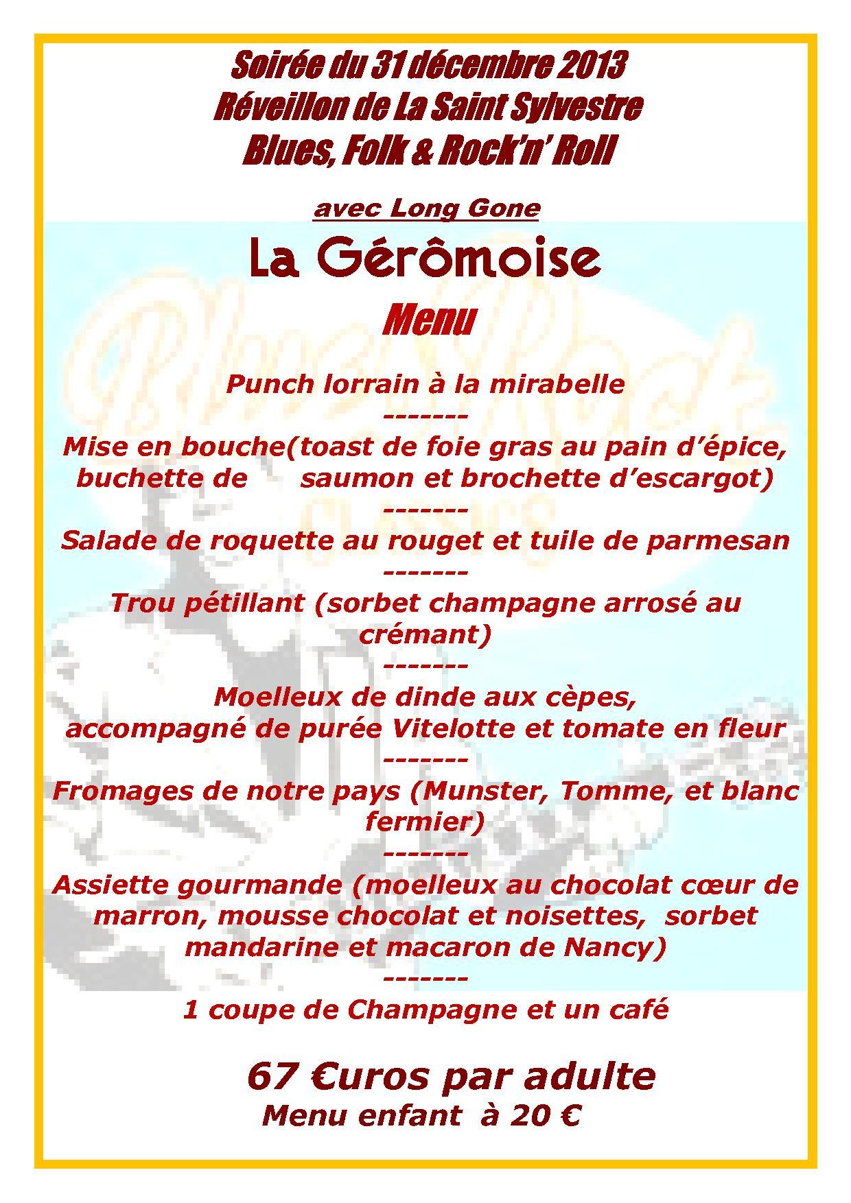 Brasserie g rardmer r veillon du 31 d cembre 2015 - Idee reveillon 31 decembre ...